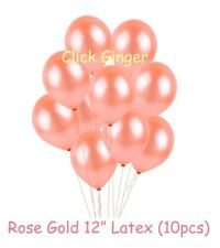 Rose Gold Latex Balloons (x10) Helium Quality Girls First Birthday Decoration
