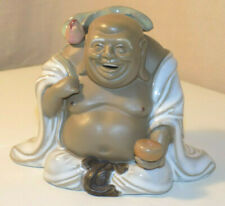 Pottery Smiling Happy Buddha Figurine