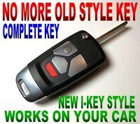 I-KEY STYLE FLIP REMOTE FOR CHEVY KOBUT1BT CHIP KEYLESS ENTRY CLICKER ALARM FOB