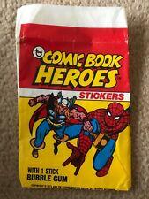Marvel Comic Book Bazooka Bubble Gum Card Thor Spider-man Wax Wrapper 1974 Rare