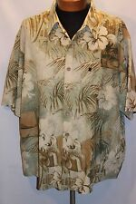 "Duke Kahanamoku 3XL S/S Shirt  ""PARADISE"" Hawaiian Shirt  Button Down NWOT"