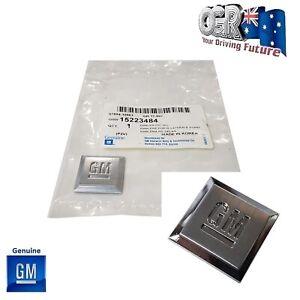GM Badge Holden Pontiac G8 Fender Universal Square Emblem Chrome NOS 15223484