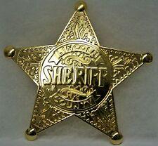 Unique Reproduction Badge <> GOLD-TONE LINCOLN CO SHERIFF <> Law Enforcement <>
