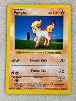 Ponyta 1999 Shadowless 60/102 Near Mint Base Set Common Pokemon Card