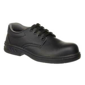 Vegan Unisex Microfibre Laced Safety Shoe S2 sizes 34-48 Porwest FW80