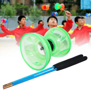 With Rope Toy Hand Play Diabolo Set Classic Soft Light Glow Professional Bearing