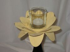 Wine Bottle Topper Candelabra, a Flower w/a Glass Tealight/Votive Holder