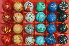 Bakugan Collection of 24 with Red Translucent Case Toy Ball Lot All Open/Close