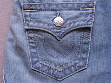 TRUE RELIGION BRAND SADIE WOMENS MID-LENGTH DENIM JEAN DRESS SKIRT SIZE 26 NEW