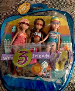 Wee 3 Three Friends Splash! Splash! Splash! Doll Set Mattel