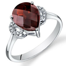 14 Kt White Gold 2.75 cts Garnet and Diamond Ring R61566