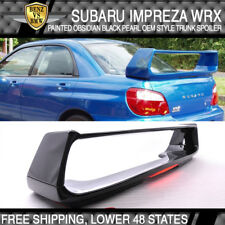 For 02 03 04 05 06 07 WRX Trunk Spoiler Painted Obsidian Black Pearl # 32J - ABS