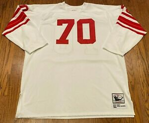Sam Huff Mitchell Ness Throwbacks 1956 New York Giants #70 Jersey Size 54