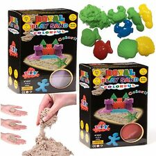 New Children/Kid Magic Sand 400g Box Beach Moulds Motion Kinetic Moving Play-Set