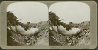 WW1 Stereoview. We Capture a Hun blockhouse in the Hindenburg Line @ Croiselles