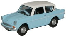 Oxford Diecast Ford Anglia Lt Blue/White Die Cast Model 1:76 00 Scale New