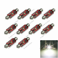 10X White 36MM 1 CREE Canbus Error Free Festoon Map LED Light Roof Bulb I128