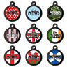Pet Tags - Engraved Pet ID Tags - Cute I'm Chipped Dog Name Tags - Metal Tag