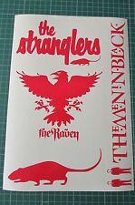 THE STRANGLERS RED LOGO/RAVEN/RAT/MIB CAR STICKERS