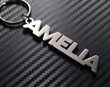 AMELIA Personalised Name Keyring Keychain Key Fob Bespoke Stainless Steel Gift