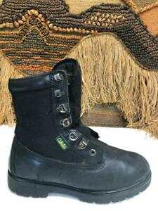 Cabelas  Mens Black Leather Work Boot SZ 7 D   8003682