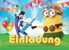 8 Stück Minions Einladungskarten Zum Kindergeburtstag U003du003e Inklusive  Umschlägen
