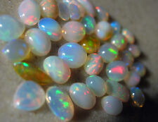 Top etiopía Opal cabochon Mix, 6-10mm, 37 TC.