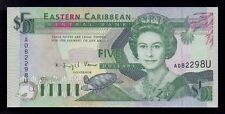 B-D-M East Caribbean St. Anguilla 5 Dollars 1993 Pick 26u SC UNC