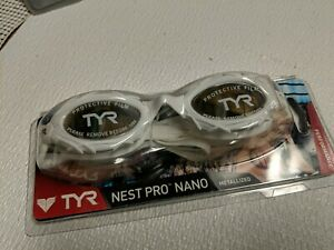 TYR Nest Pro Nano Mirrored Tri Goggle white Frame/Metallized Lens