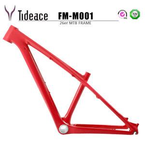 "Aero Carbon Mountain Bicycle Frame 26er 14"" Cycling MTB Bike Frames Glossy OEM"