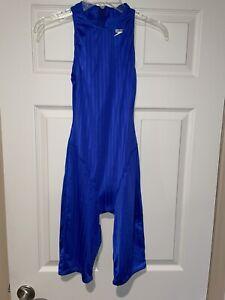 Rare Black Aquablade Speedo High Neck zipper Swimsuit Swim Suit Hydrasuit Sz 34
