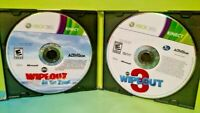 Wipeout 3 + In The Zone for Kinect  - Microsoft Xbox 360 Game Lot - Tested Works