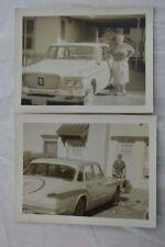 Vintage Car Photos Woman w/ 1960 Plymouth Valiant 845