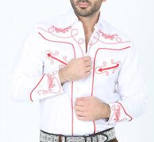 Cowboy Shirt Camisa Vaquera Western Wear El Señor de los Cielos White