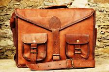 Bag Vintage Style Handcrafted Leather Satchel Messenger Laptop Large Tan Brown
