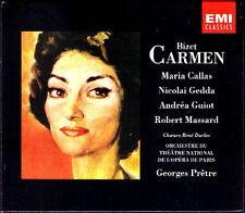BIZET: CARMEN Maria Callas Nicolai Gedda Robert Massard GEORGES PRETRE EMI 2CD