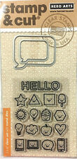 HERO ARTS CLEAR STAMP AND DIE SET ~EVERYTHING SMILES CODE DC194