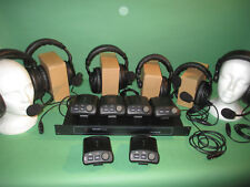 TOM COM 6 STATION SYSTEM with 6 cans 6 belt packs & PS 11 CLEAR COM 4 PIN type