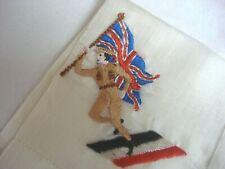 More details for ww1 british army patriotic souvenir hanky british soldier dancing on german flag
