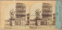 Italia Pisa Po' di Tempo E Tournier Foto Stereo Vintage Albumina Ca 1860