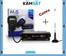 Radio Móvil CB Midland M5 Alan Multibanda + Kit de 874 Mini Mag Antena Canva