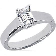 0.51 carat EMERALD cut Natural DIAMOND Engagement 14k Ring, H color VS1 clarity