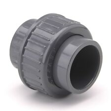 """PVC Union Plain 75mm 2½"""" BSP Female Pipe Fitting Straight Equal Solvent#33L405"""