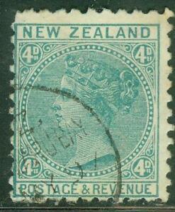 New Zealand. 1897. SSF. 4d. P10x11. U.