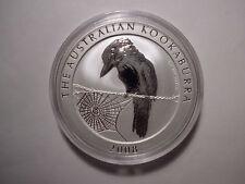 Australien 1 Dollar 2008 Kookaburra 1 Unze Silber stempelglanz