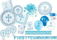 Boys 1st First Holy Communion Party Supplies Decorations Blue + White