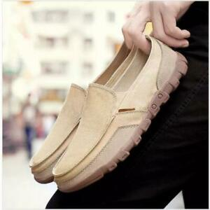 Men's Canvas Pumps Loafers Shoes Slip on Breathable Driving Moccasins walking