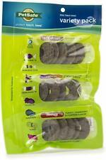 (2 Pack) Petsafe Breakfast, Lunch, Dinner Rings Rawhide Medium for Dogs