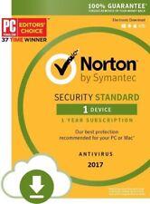 Norton Internet Security Standard Latest 2017 2018 | 1 PC | 1 Year | Antivirus