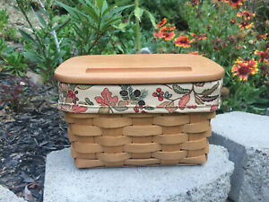 Custom Fall Autumn Path LINER for Longaberger Large Recipe Basket